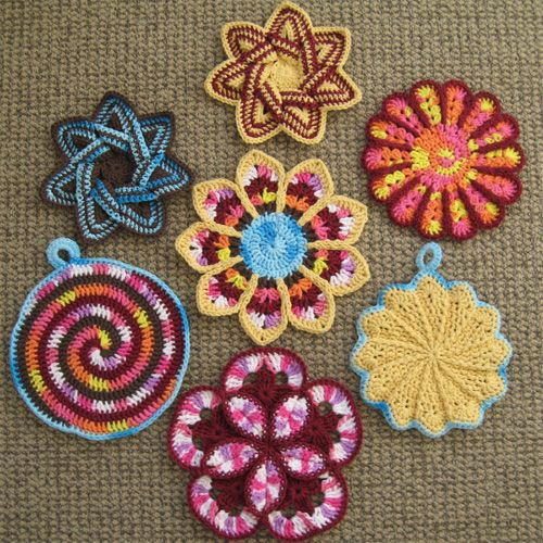 Hot Pads Potholders And Dishcloths Free Patterns Crochet For