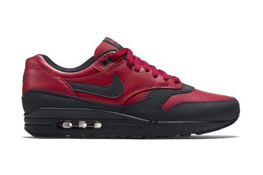 8de1336403ad Nike Air Max 1 Leather Premium Gym Red Black
