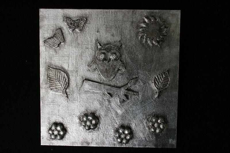 """Wanddeko - Metal Art Bild """"Ruf der Eule"""" Aluminium Art - ein Designerstück von Angelas_Kreativwelt bei DaWanda"""