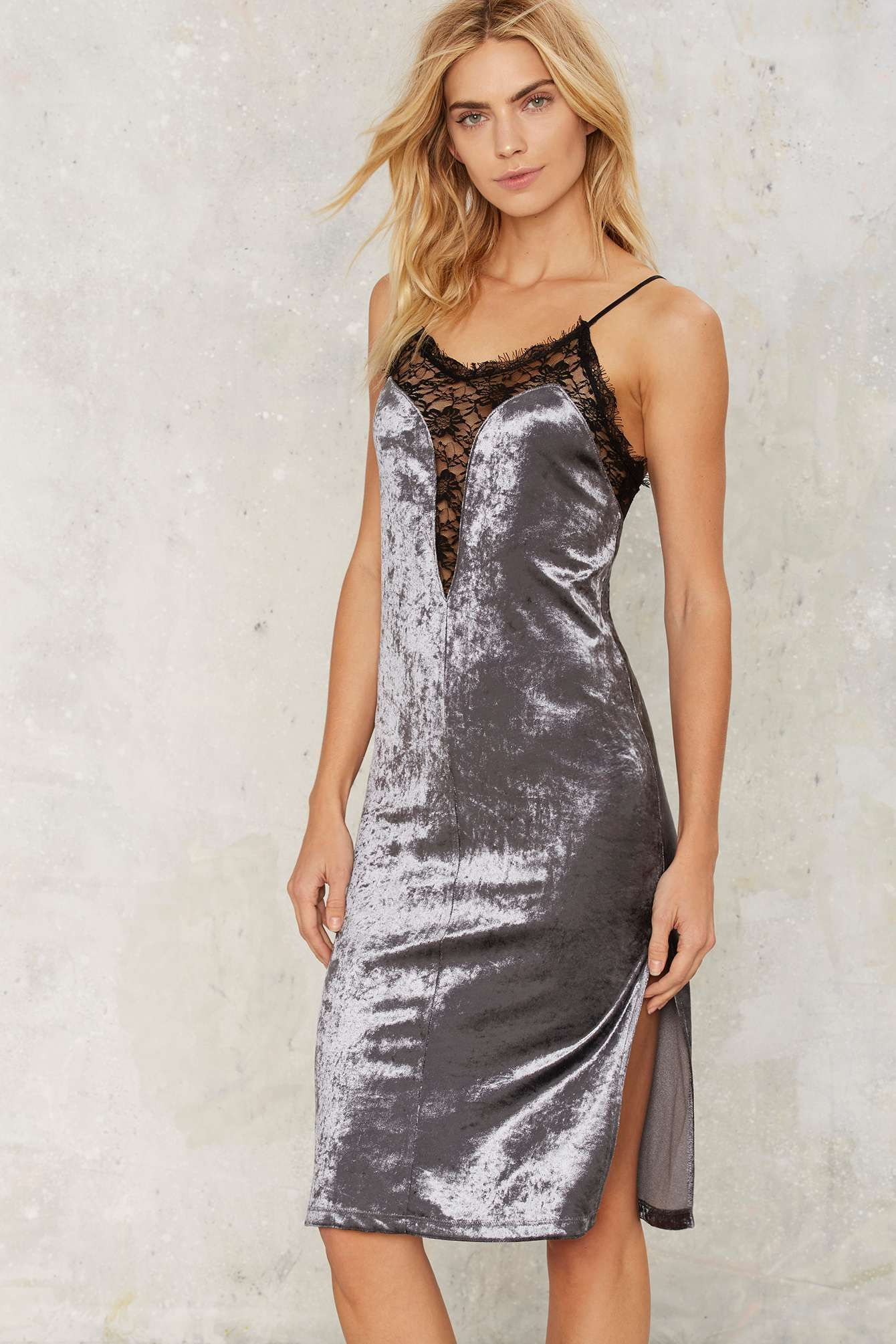 In My Darkest Hour Velvet Slit Dress | Shop Clothes at Nasty Gal!