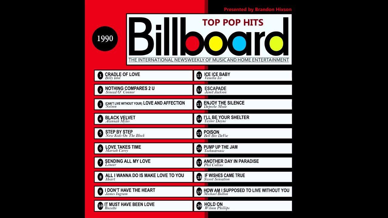 Billboard Top Pop Hits 1990 2016 Full Album Billboard Hits