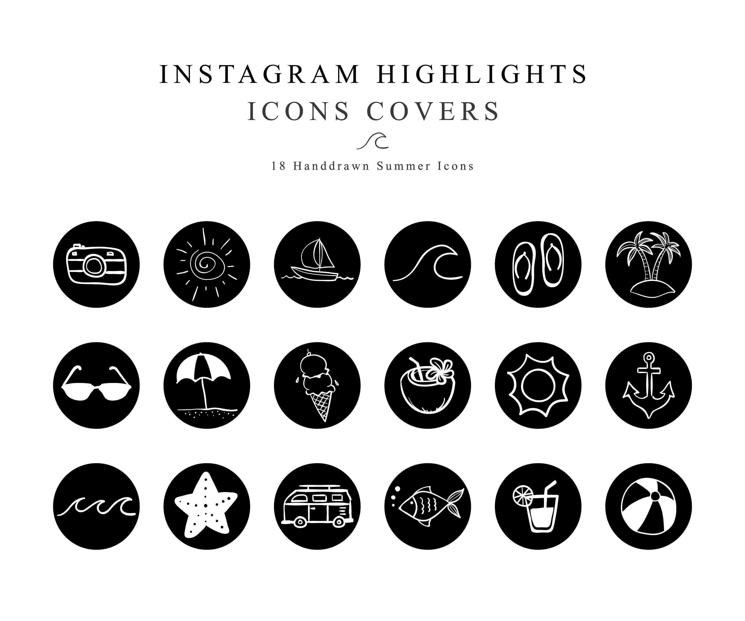 instagram story highlights covers summer vacation icons etsy in 2020 story highlights summer instagram how to draw hands instagram story highlights covers