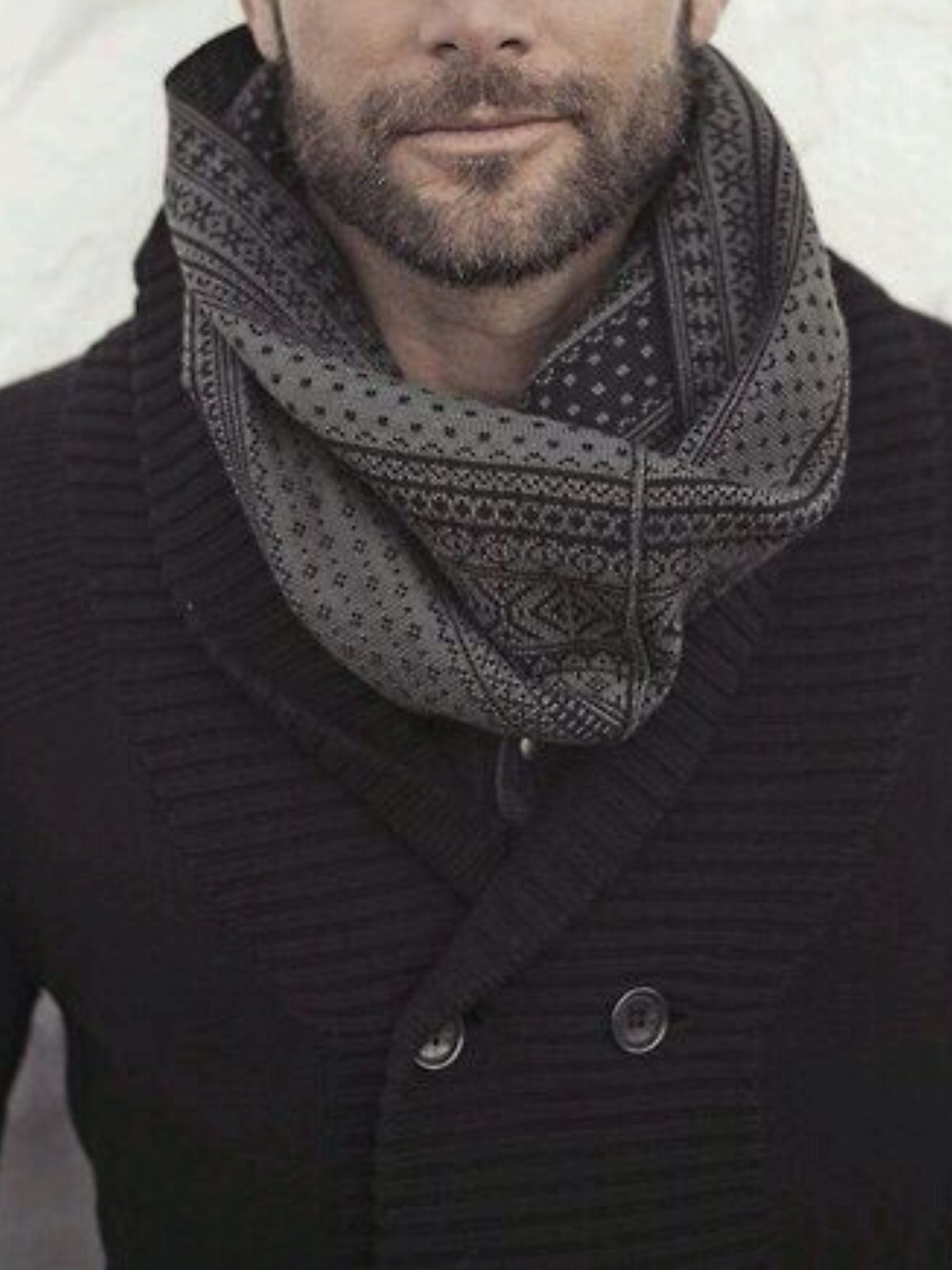 Men's fashion Patterned Infinity Scarf Mens infinity