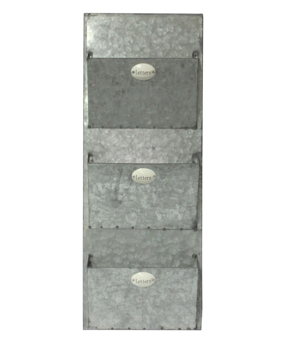 WallMounted ThreePocket Letter Holder Letter holder
