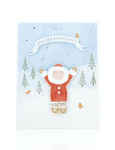 Special Little Boy Christmas Card | M&S