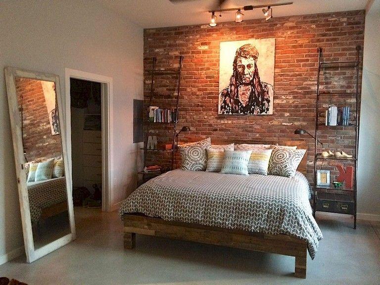 36 Comfy Master Bedroom Brick Wall Decoration Ideas Brick Wall Bedroom Brick Bedroom Bedroom Design