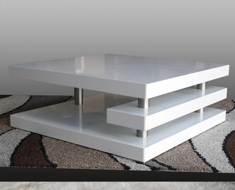 White High Gloss Contempo Square Coffee Table $349 This ...