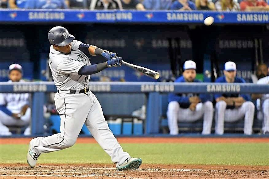 Clean hit The Mariners' shortstop Jean Segura hits during