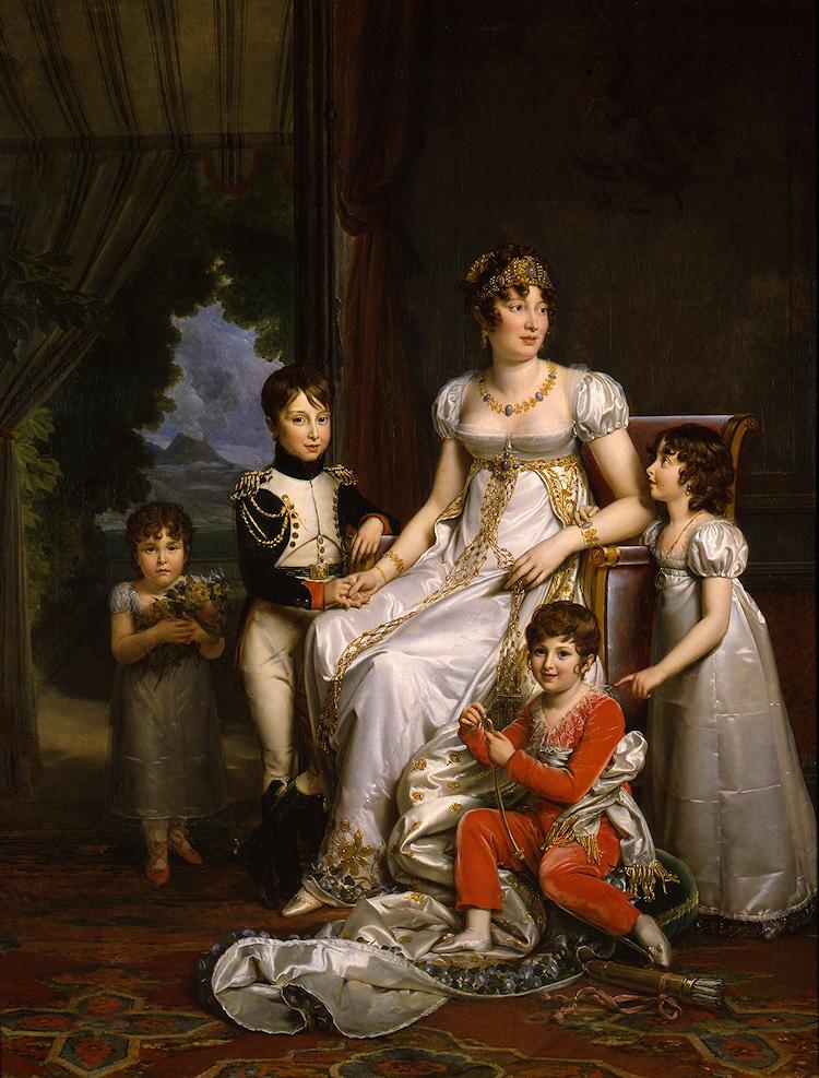 Par Baron Gerard En Pied Royal And Imperial Ladies Bonaparte And Bourbon Regency Bonaparte Family Portraits