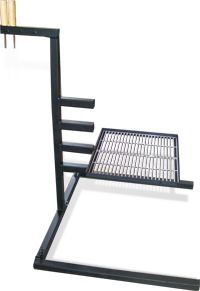 Cook Your Camp Dinner Over The Fire With Adjustable Levels Welding Table Grill Stand Campfire Grill