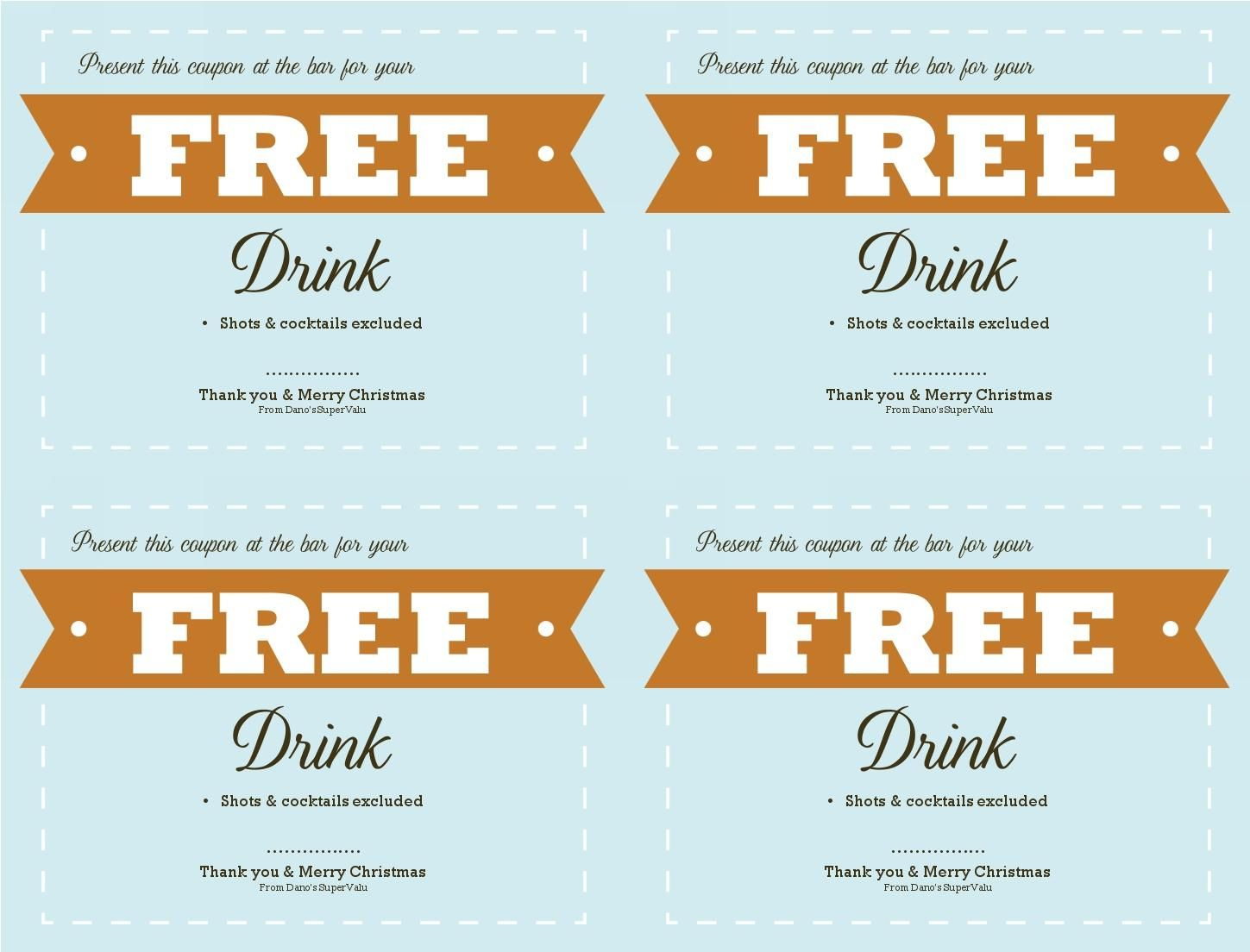 Free Food Coupon Template  Musthavemenus  Steves Arty