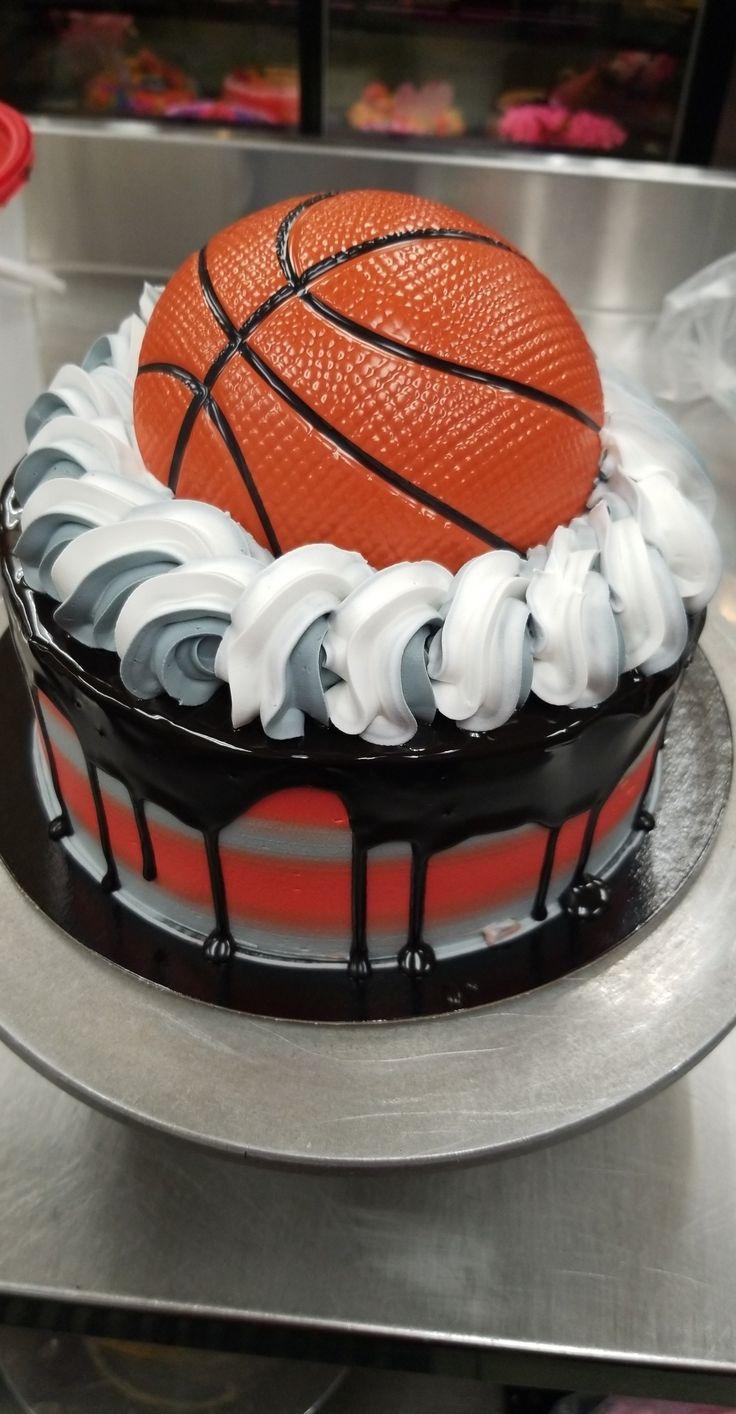 Toronto Raptors buttercream cake Basketball birthday