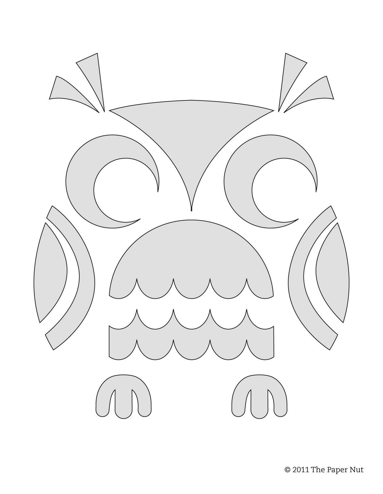 The+Paper+Nut+Cute+Owl+Pumpkin+Carving+Stencil.jpg 1,241×1,600 ...