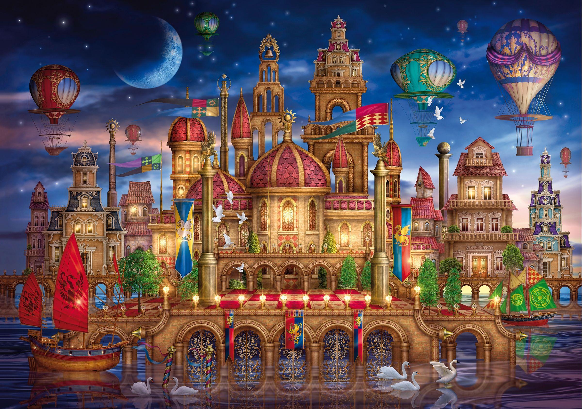 Fantasy Palace Ilustracoes Artistas Tarot Decks