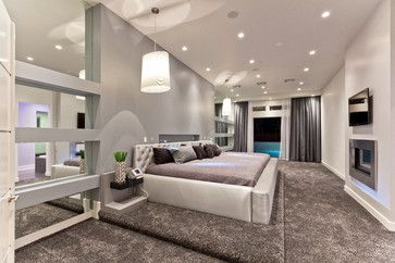 Vegas Modern 1 - contemporary - Bedroom - Las Vegas - David Marquardt Architectural Photography