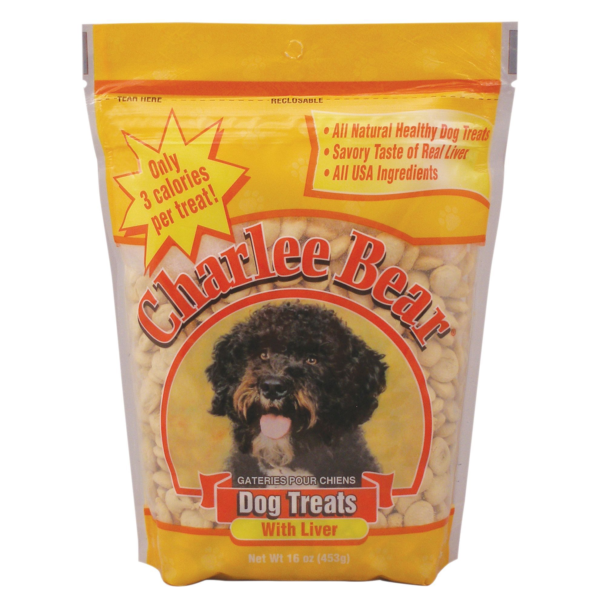 Charlee Bear All Natural Dog Treat Size 16 Oz Liver Adult