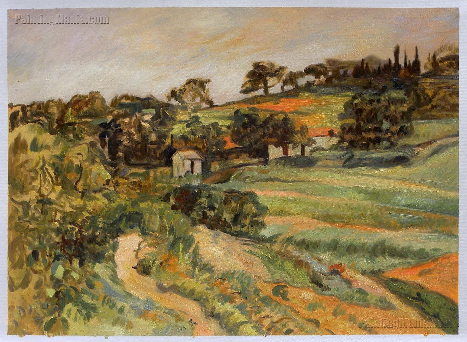 Landscape In Provence Paul Cezanne Paintings Paul Cezanne Paintings Cezanne Art Paul Cezanne