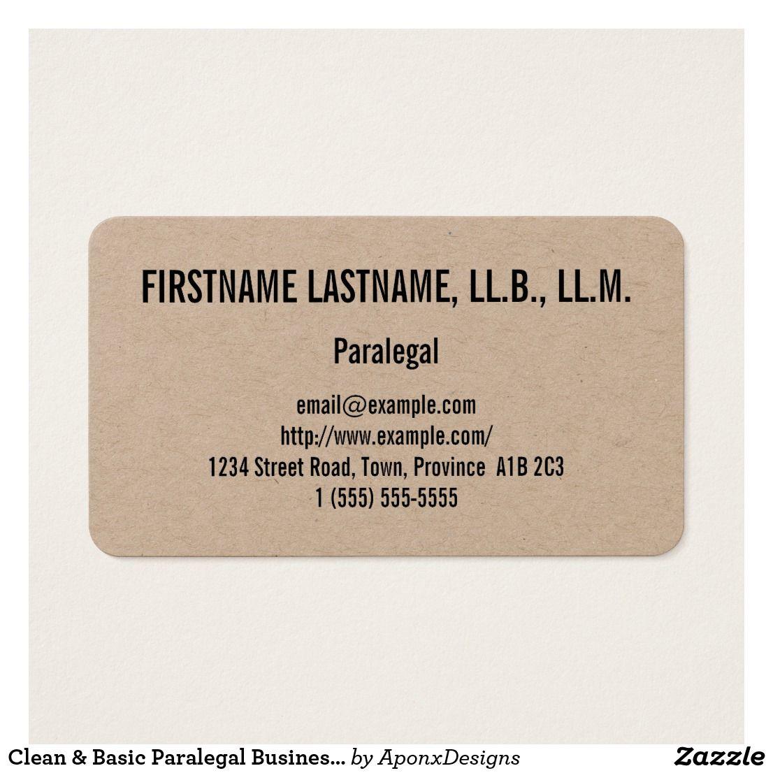 Clean Basic Paralegal Business Card Zazzle Com Paralegal Business Cards Business Card Design