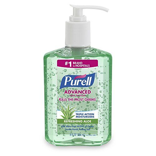 Purell 9674 12 Cmr Advanced Hand Sanitizer Aloe 8 Ounce Pack Of