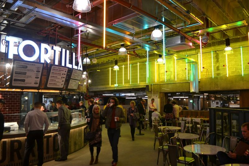 Indoor street food at trinity kitchen the hall