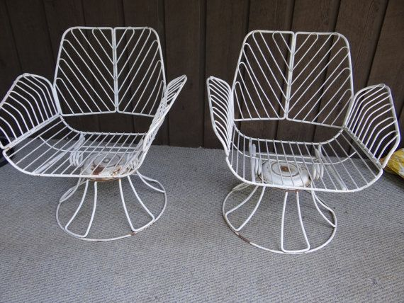Homecrest Metal Swivel Patio Chairs Vintage By Sassyretailtherapy