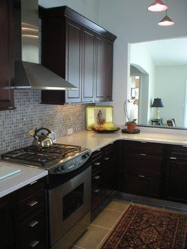 Best Kitchen White Quartz Countertops Espresso Cabinets Gas 640 x 480