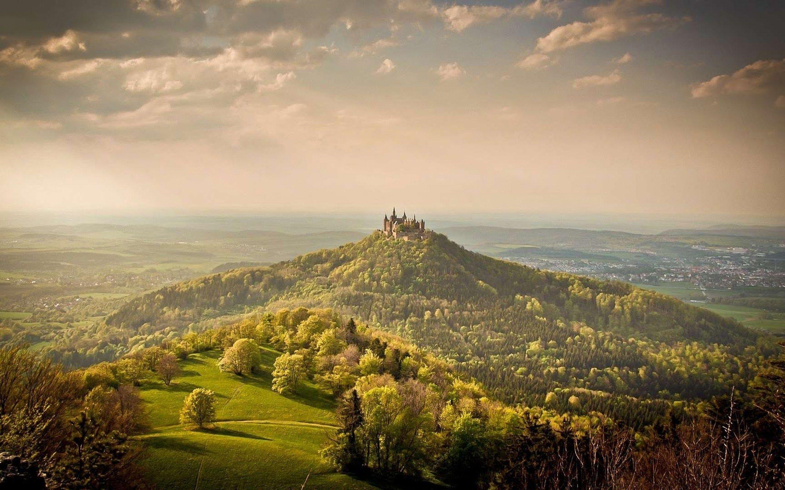 Man Made Hohenzollern Castle  Germania Sfondo