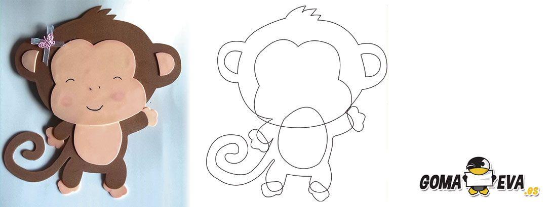 Mono en goma eva buscar con google mono en eva pinterest - Dibujos en goma eva ...