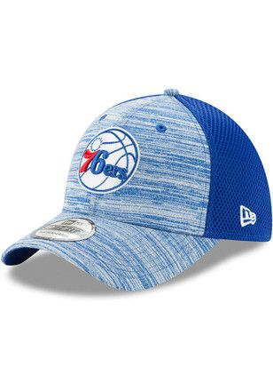 6cfc13eeab1 New Era Philadelphia 76ers Mens Blue Tonal Tint 39THIRTY Flex Hat ...