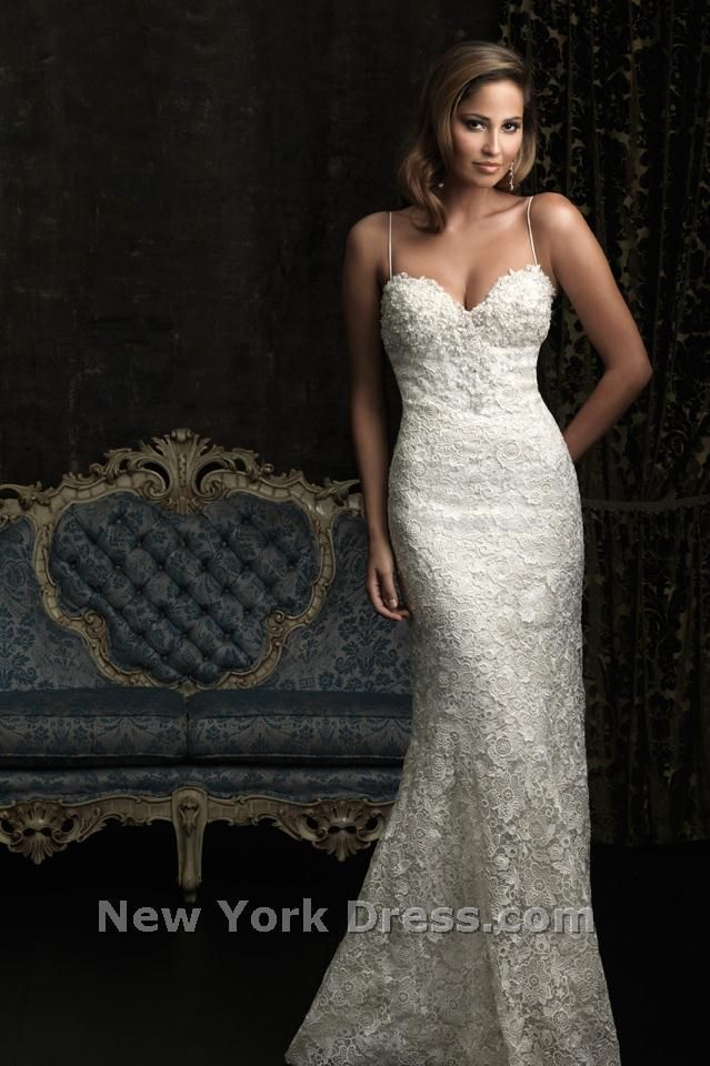 Allure 8959 Spaghetti Strap Lace Wedding Gown by Allure Bridals ...