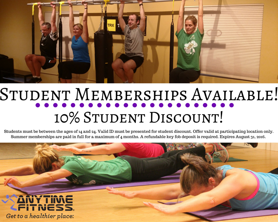 Calling All Students Get 10 Off Your Summer Gym Membership With Anytime Fitness In Niantic Anytimefi Anytime Fitness Gym Membership Presents For Students