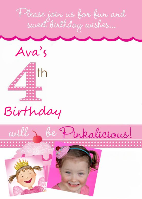 I like the wording Pinkalicious party invitation – Pinkalicious Party Invitations
