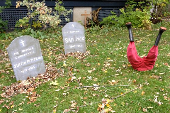 When I have a front yard  diy tombstone halloween decor - yard decorations for halloween