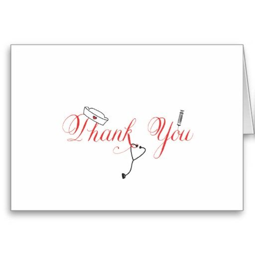 Nurse Thank You Note Red Hand Calligraphy RN Card Calligraphy - nursing thank you letter