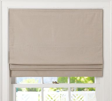 Carson Linen Cotton Cordless Roman Shade Cordless Roman Shades Pottery Barn Roman Shades Window Shades