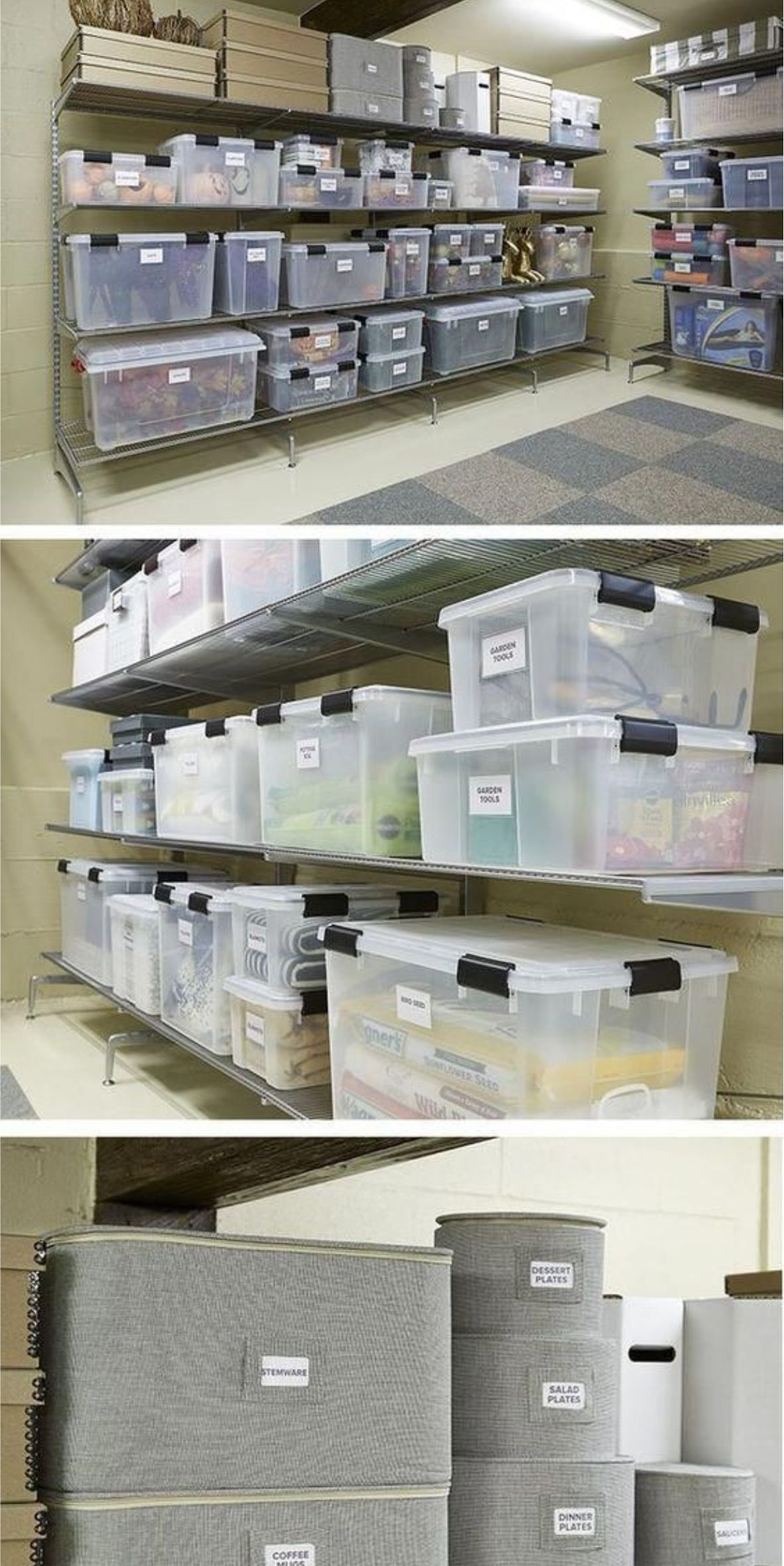 31 Attic Storage Containers Boxes Ideas Basement Storage Attic Storage Organization Attic Storage