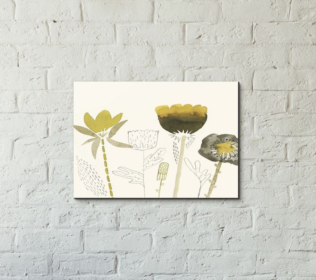 Quirky watercolor flowers