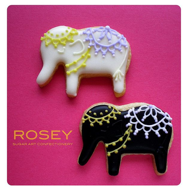 Indian Elephant Black & white version by rosey sugar, via Flickr