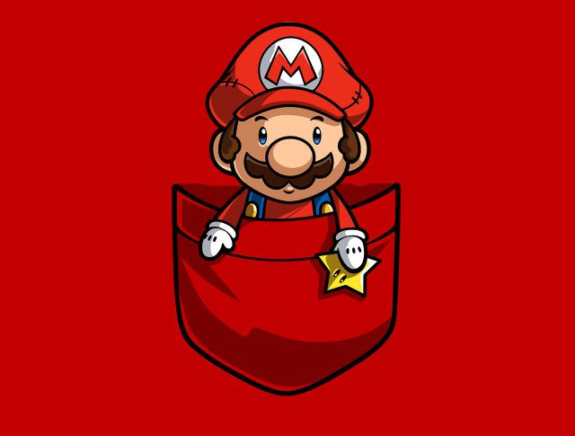 Pocket Mario T-Shirt - The Shirt List