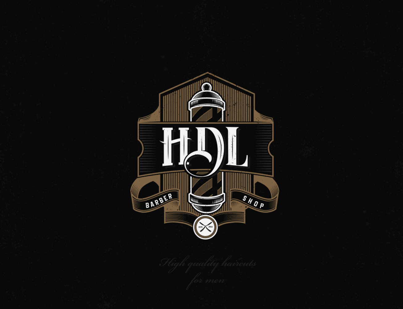 "Vintage logo design concept for ""HDL"" barber shop... 