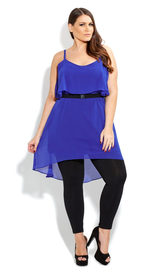 CITY CHIC - LAYERED BELT TUNIC - Women\'s plus size fashion | Plus ...