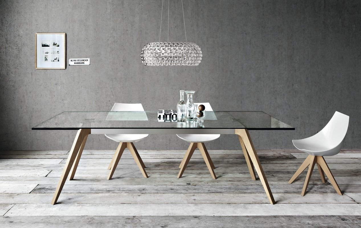 Delta Extendable Dining Table With Images Modern Dining Room