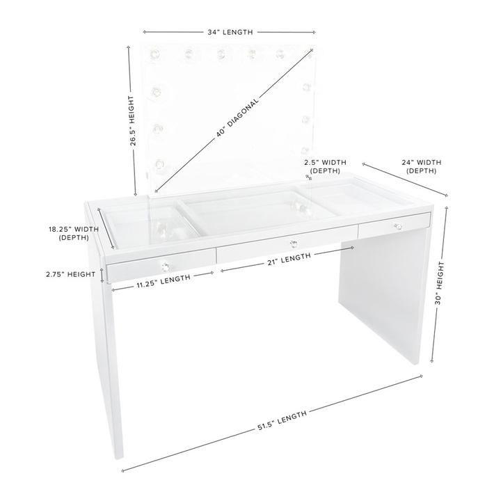 slaystation plus premium vanity table vanity table