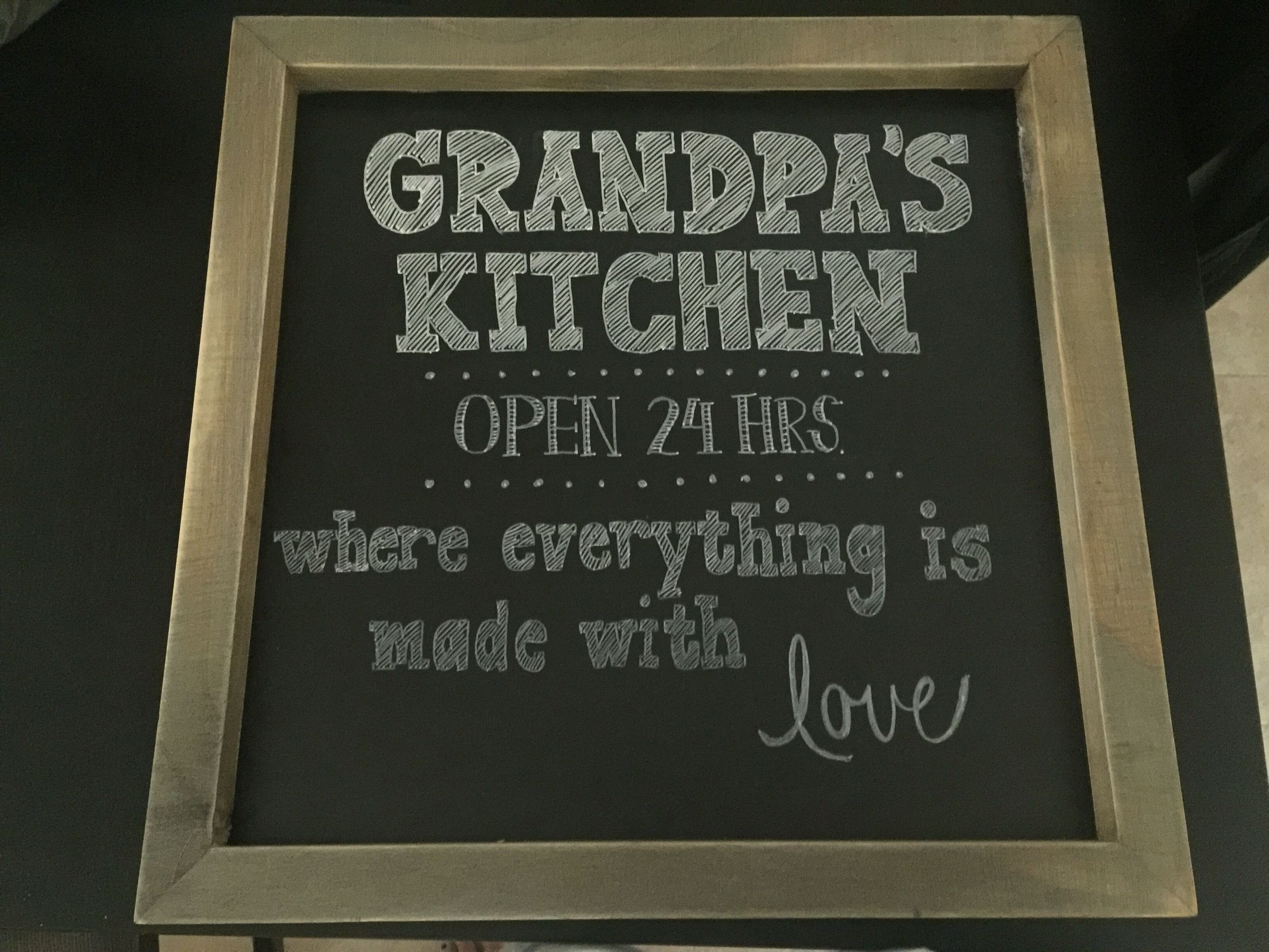 Grandpa S Kitchen Sign Kitchen Signs Chalkboard Quote Art Chalkboard Quotes