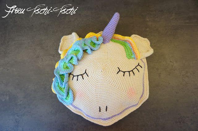 Rundes Einhorn Kissen Häkeln Anleitung Kostenlos Crochet