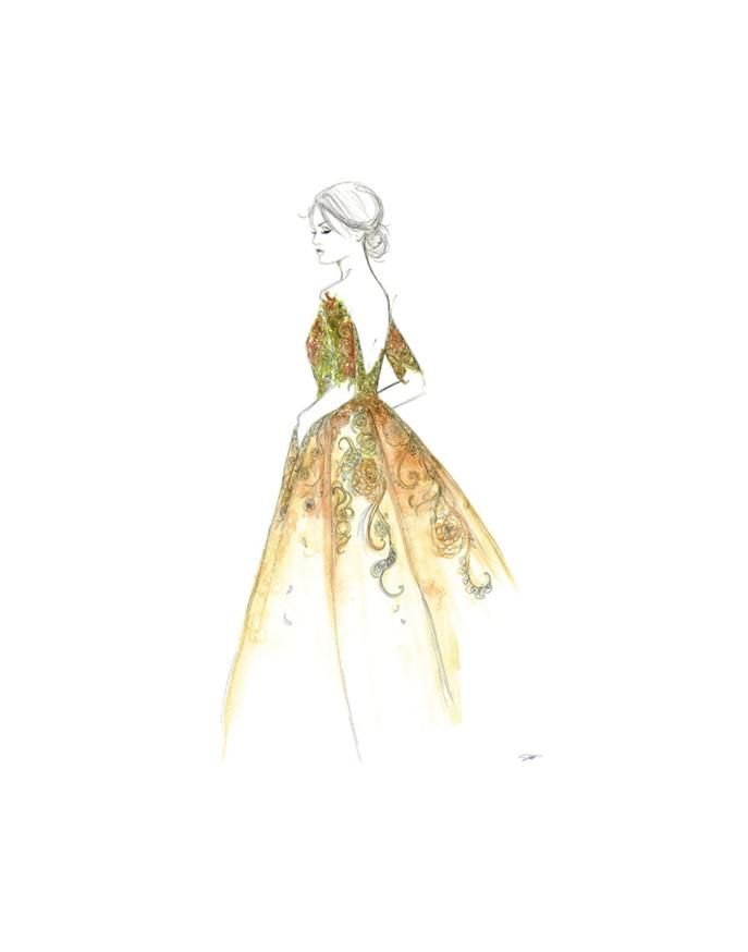 Garden Gown Art Print by Jessica Durrant at Art.co.uk