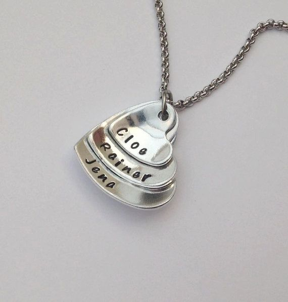 Personalised necklace heart pendant stacked by pfjewelleryshop personalised necklace heart pendant stacked by pfjewelleryshop aloadofball Choice Image
