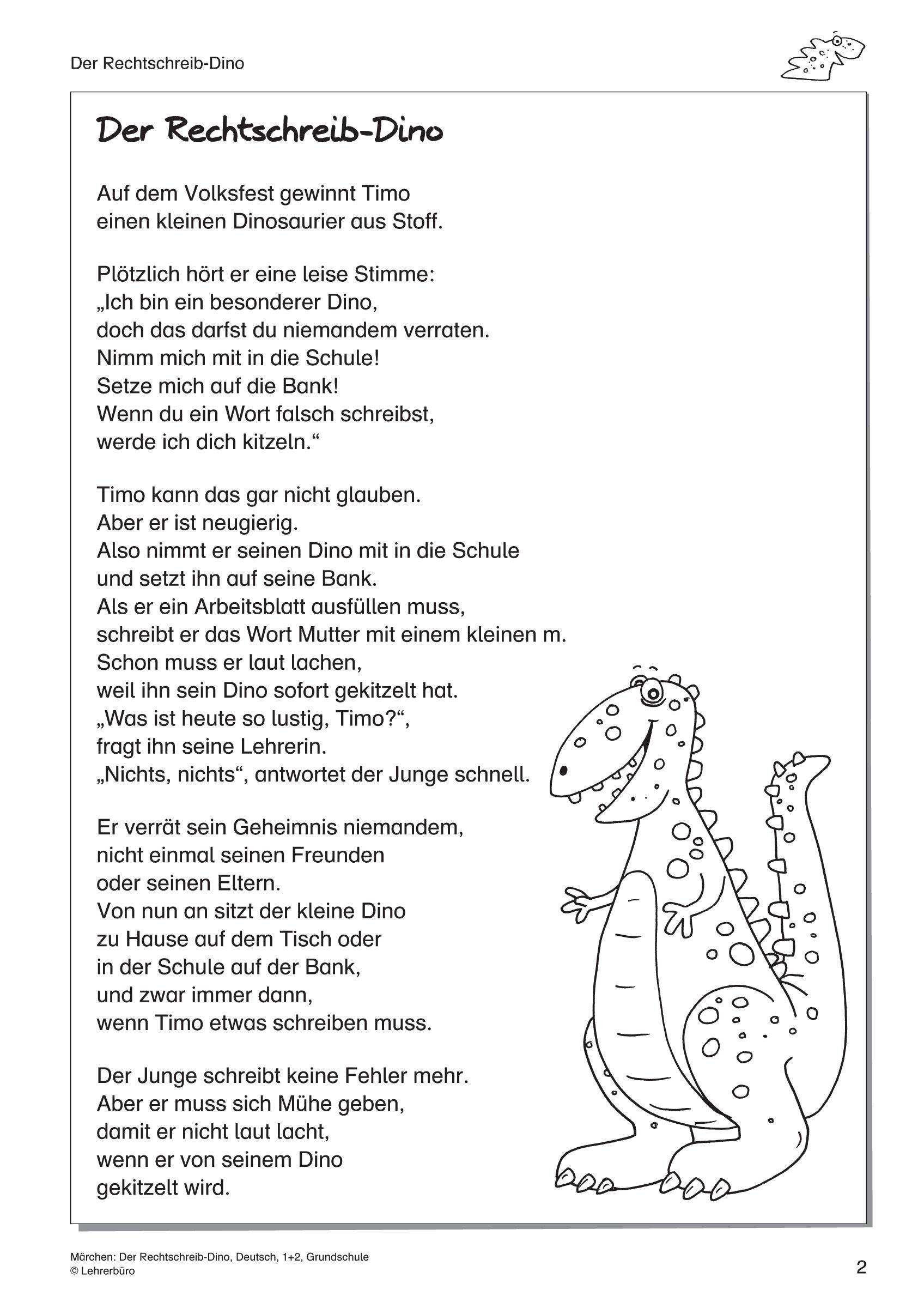 arbeitsblätter · grundschule · lehrerbüro für dinosaurier