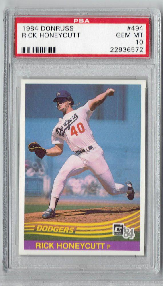 1984 Donruss Baseball Rick Honeycutt 494 Psa 10 Set Break From 499