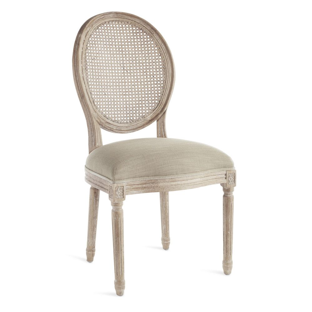 Louis cane back side chair wisteria round back dining